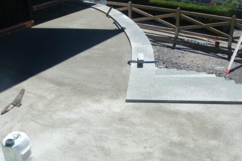 Terrasse bétonnée